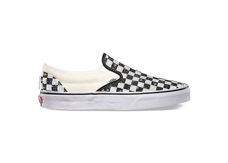 239ea446a1 Custom Primary Check OLD SKOOL Shoes Vans Swarovski Vans