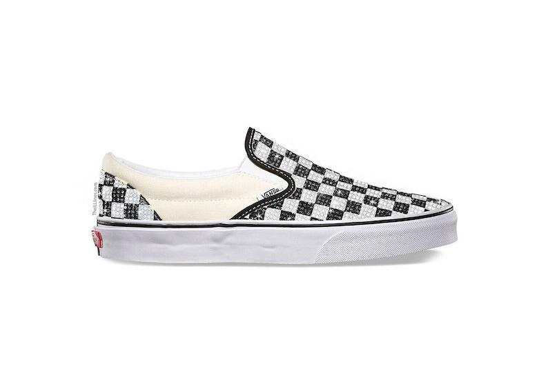 Custom Primary Check OLD SKOOL Shoes Vans Swarovski Vans  722a92a14785