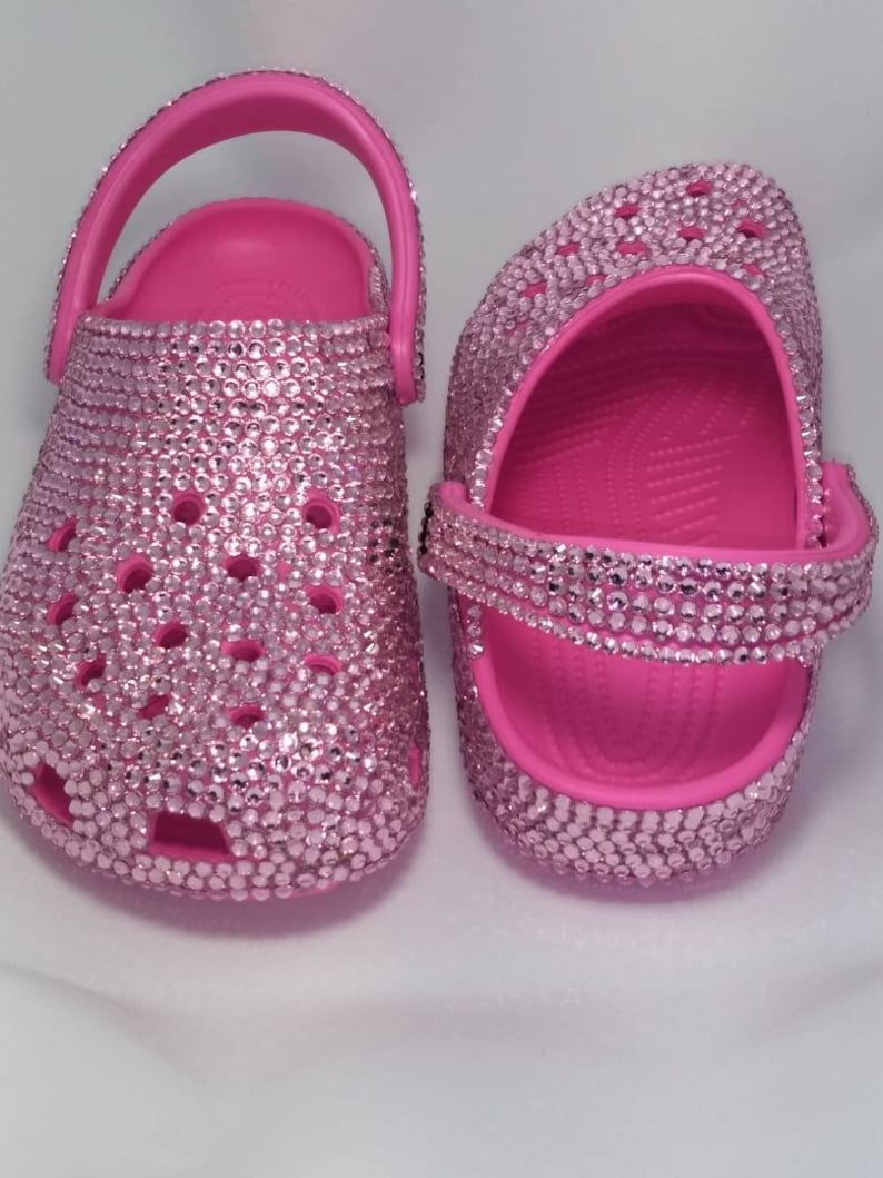 e49fd51ddfb Crocs Custom Made with Crystals Pink