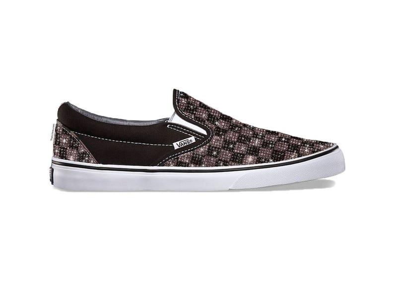 56d4e54635 Custom Primary Check OLD SKOOL Shoes Vans Swarovski Vans