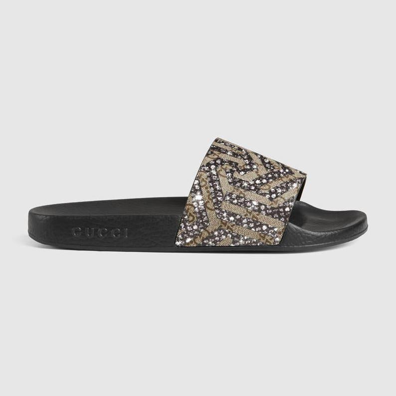 10047c45934d GG Floral brocade slide sandal Fashionable Glam Slides Gucci