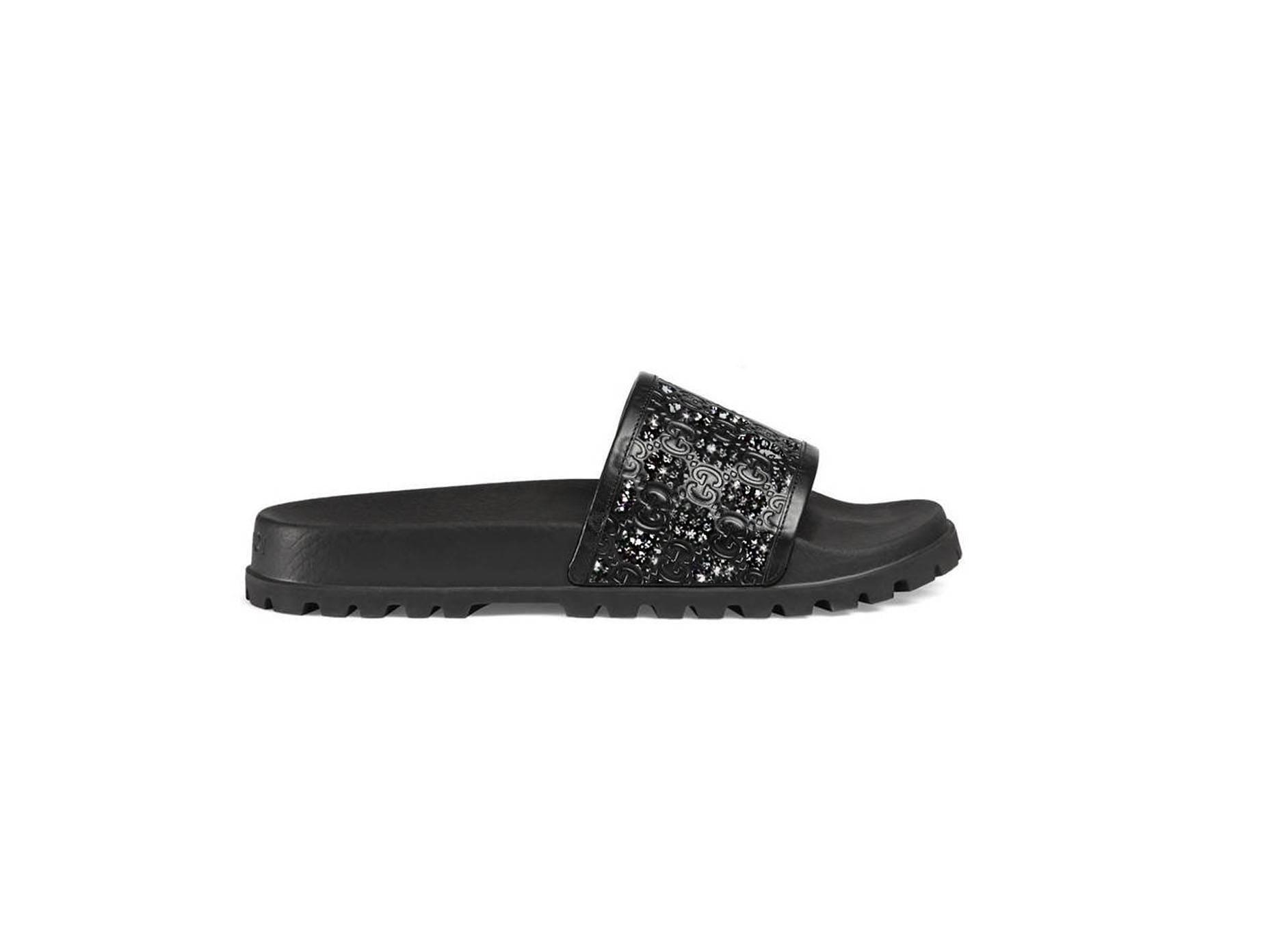 0a137fa1d2b1 Custom Gucci Signature slide sandal Swarovski Gucci slides