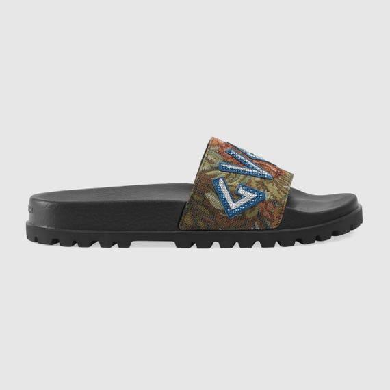 e2dfb36446ba GG Floral brocade slide sandal Fashionable Glam Slides Gucci