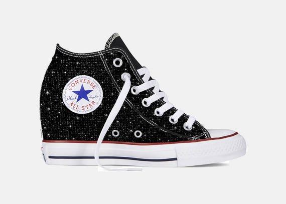 Custom Chuck Taylor Converse Wedge Shoes  00c40c91f