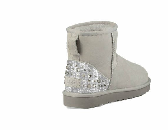 5538ed9c29b spain ugg classic short red mickey mouse crystal suede sheepskin ...