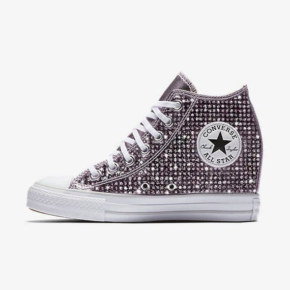 Custom Wedge Converse Chuck Taylor All Star Selene Converse   Etsy 8598f597ea