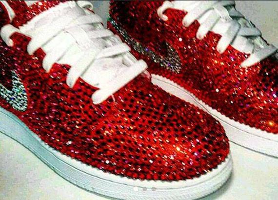 Cristal Swarovski Zapatos Diamantes Nike Custom Paytas Trisha De Imitación Zapatos Nike v4SFxaxq