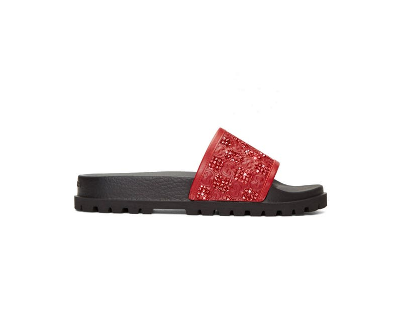 5fbd78d79959 Gucci Signature slide sandal Red Fashionable Glam Slides