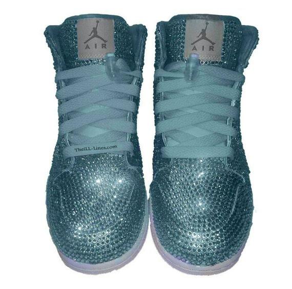 Custom Nike Shoes Baby Blue Nike Swarovski Rhinestone Nike  4c0658019