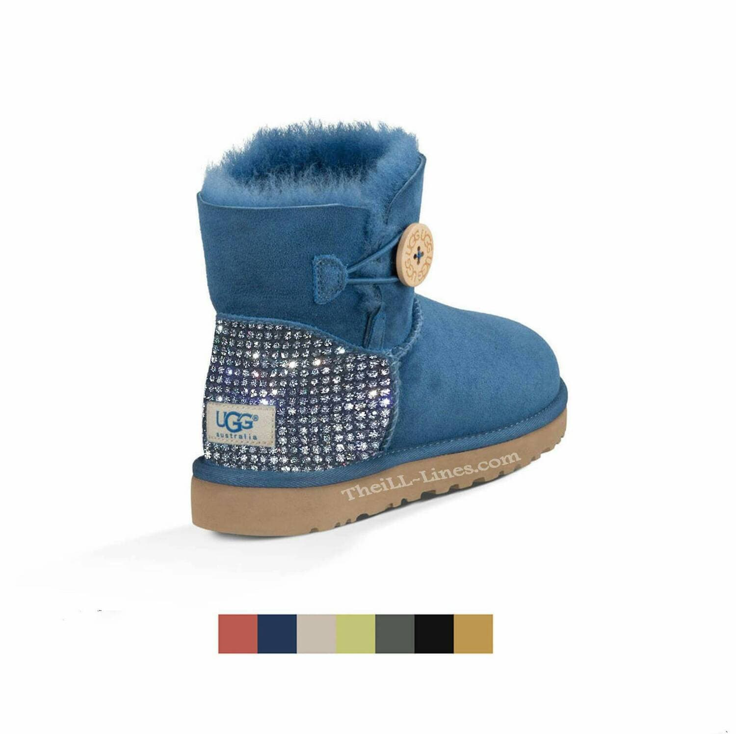 ugg mini bailey bow bleu
