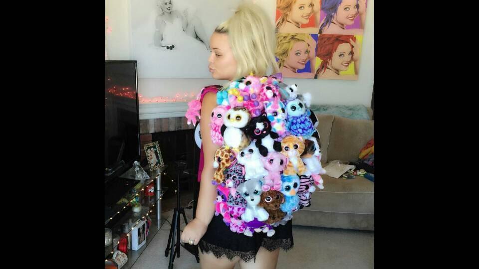 Custom Ty Beanie Baby Book Bag  dcb97b8ff09