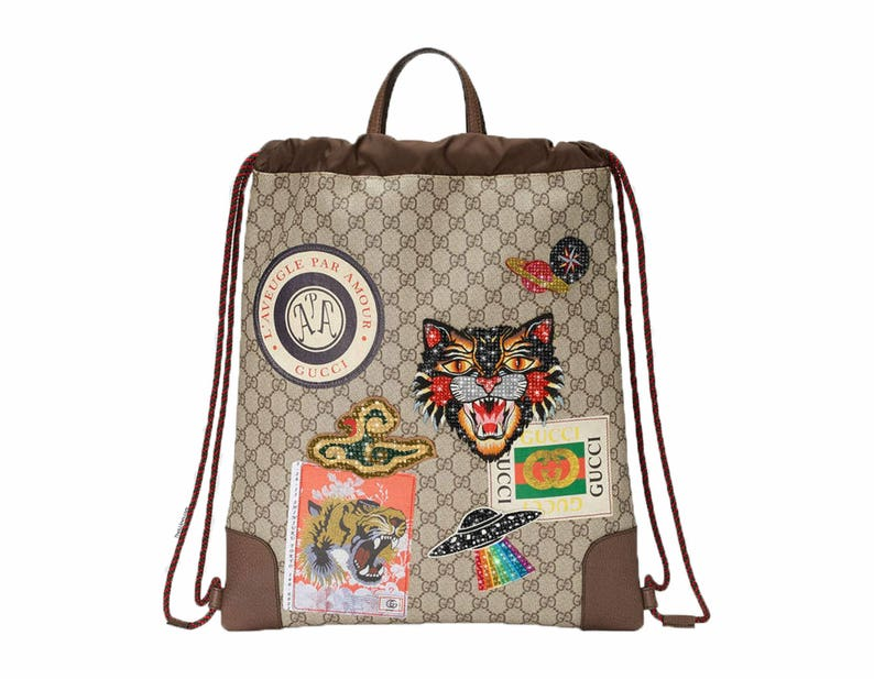 Custom GG drawstring backpack Swarovski Gucci BackpackGucci  f22ad9dd4e186
