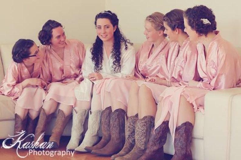 1aa6554b716 Bridesmaid Robes Blush Pink wedding robes bridesmaid silk robe