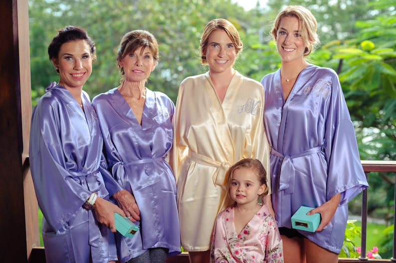 51700d873 PERSONALIZED Bridesmaid robes Lavender Purple wedding robe | Etsy