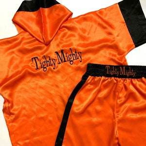 CUSTOM Made Satin Baby BOXING Robe Trunk set Boxing Outfit Personalized baby boxer outfit Boxer costume little fighter outfit boxing trunks