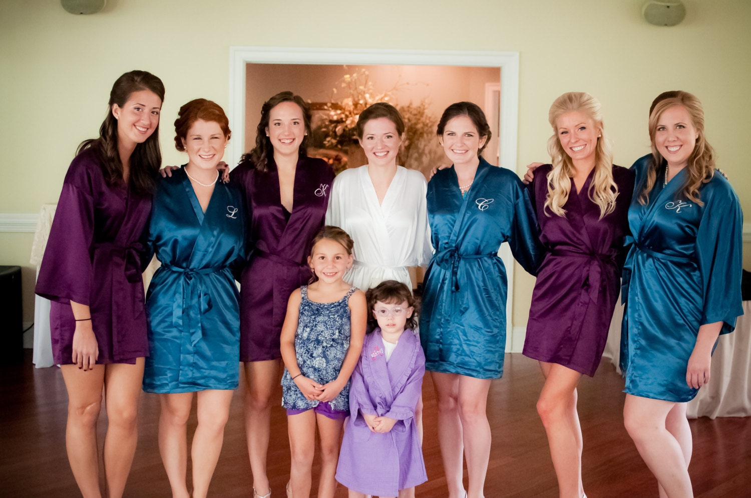 Bridesmaid robes set of purple robes teal robes Bridesmaid  21afc7cfd