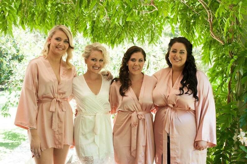 23225703714 Bridesmaid Robes Blush Pink robes bridesmaid gifts dressing