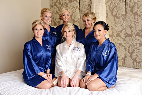bridesmaid dressing gowns silk