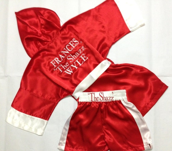Personalised Boxing Robes: CUSTOM Made Satin Baby BOXING Robe Trunk Set Boxing Outfit
