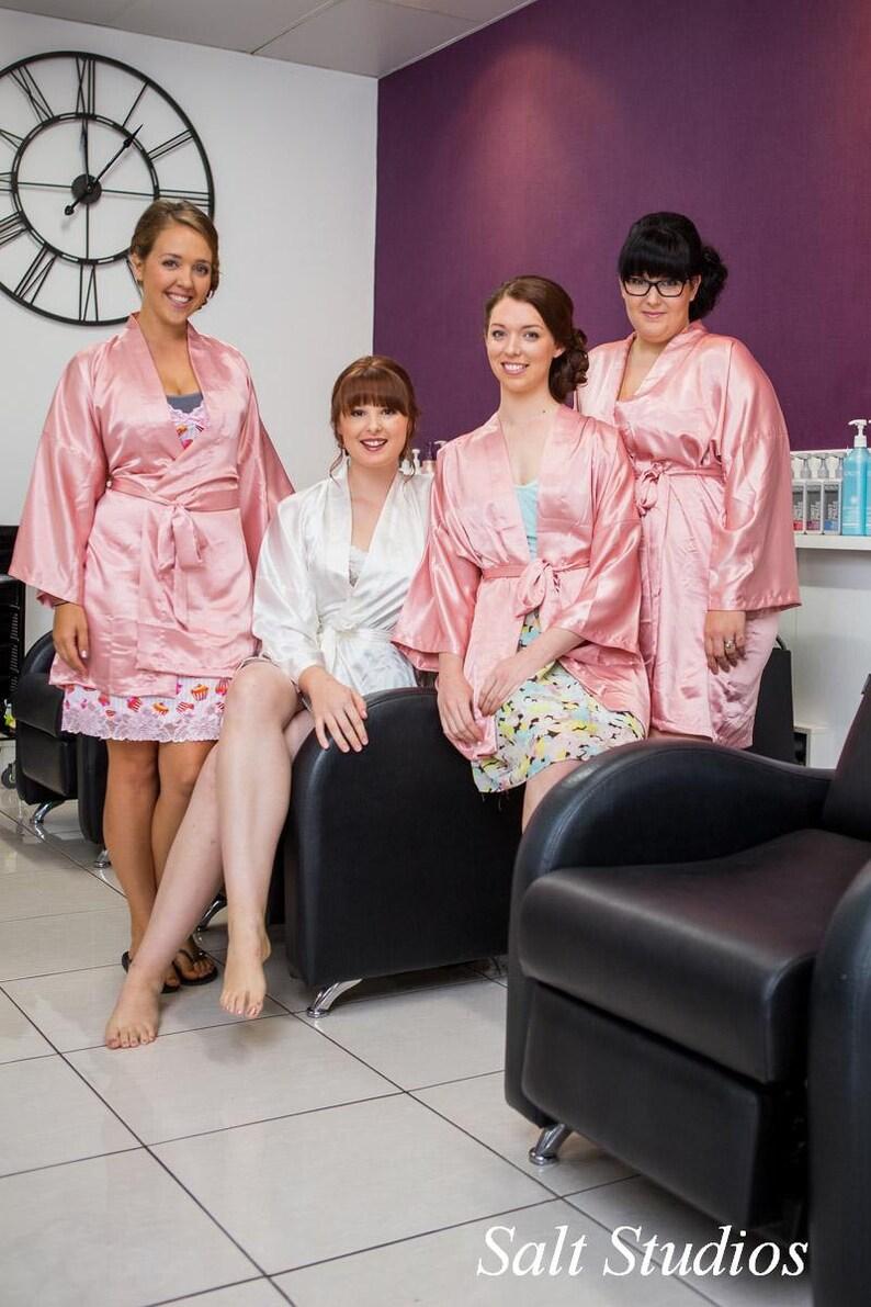 92125a71d94 Bridesmaid robes Blush Pink wedding robes bridesmaid silk robe