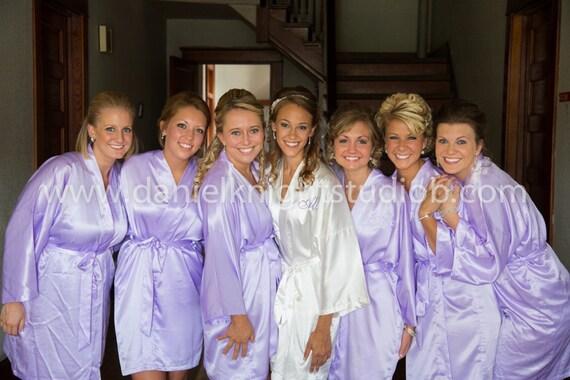 Bridesmaid Robes lavender wedding robe purple bridesmaid silk  f50309c09