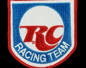 Vintage RC Royal Crown Cola Racing Team Uniform Embroidered Patch NOS 3.75 quot