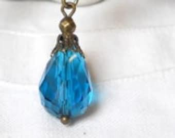 victorian dangle earrings vintage style earrings chandelier earrings teal beaded earrings petrol bronze earrings
