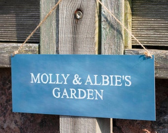 Personalised Garden Sign | Metal Sign | Gardening | Custom | Gift | Garden Decor | For Her | For Him | Couples | Housewarming