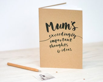 Mum's Notebook | A5 Handmade Journal | Kraft | Notepad | Mother's day | Stationery | Gift | For Her