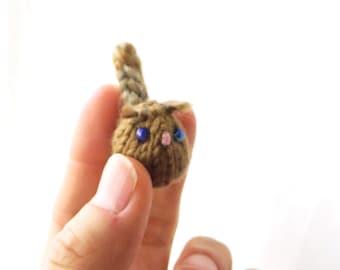 tiny squirrel - handknit forest friend - soft mini squirrel toy