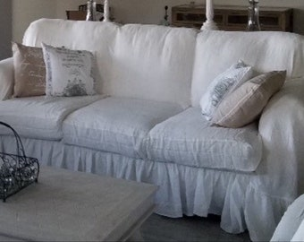 Incredible Ruffled Sofa Cover Etsy Gmtry Best Dining Table And Chair Ideas Images Gmtryco