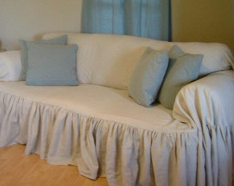 Terrific Ruffled Sofa Cover Etsy Gmtry Best Dining Table And Chair Ideas Images Gmtryco