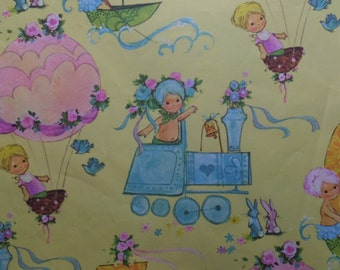 Vintage Up and Away Baby Shower Gift Wrap Wrapping Paper