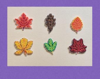 Autumn Leaves Minis - Cross Stitch Pattern