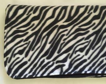 Zebra Print Fleece Throw