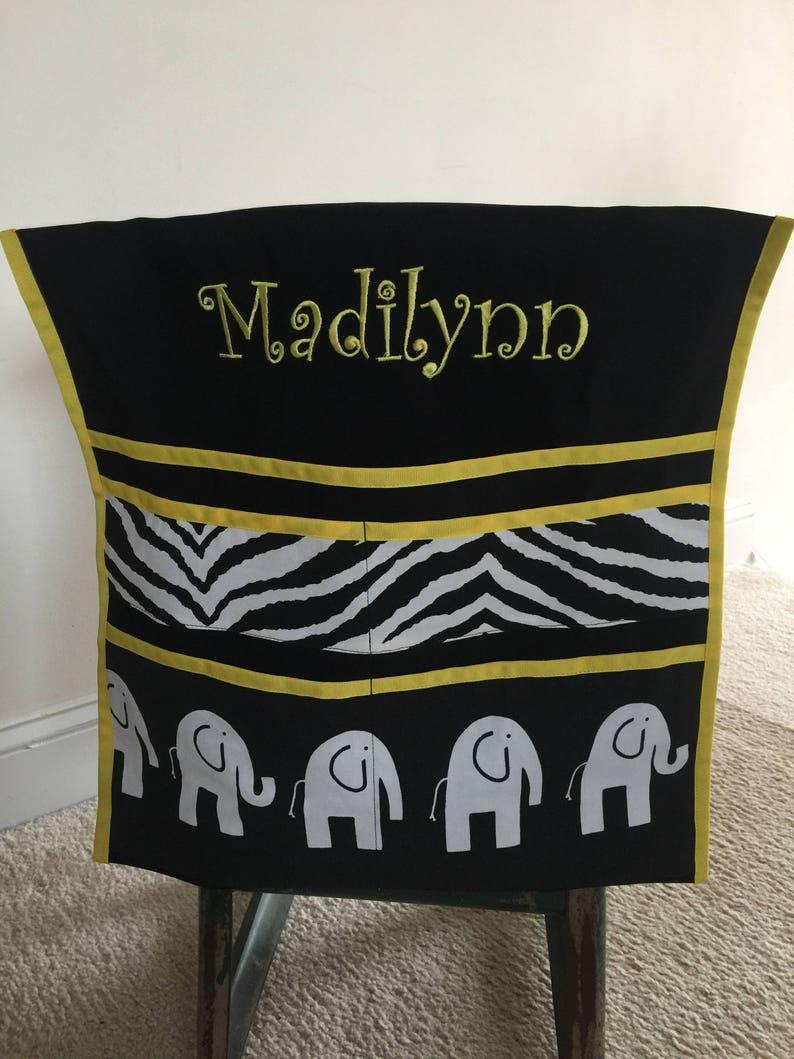 Black /& White Elephants Deluxe Seat Sack You create design!!!