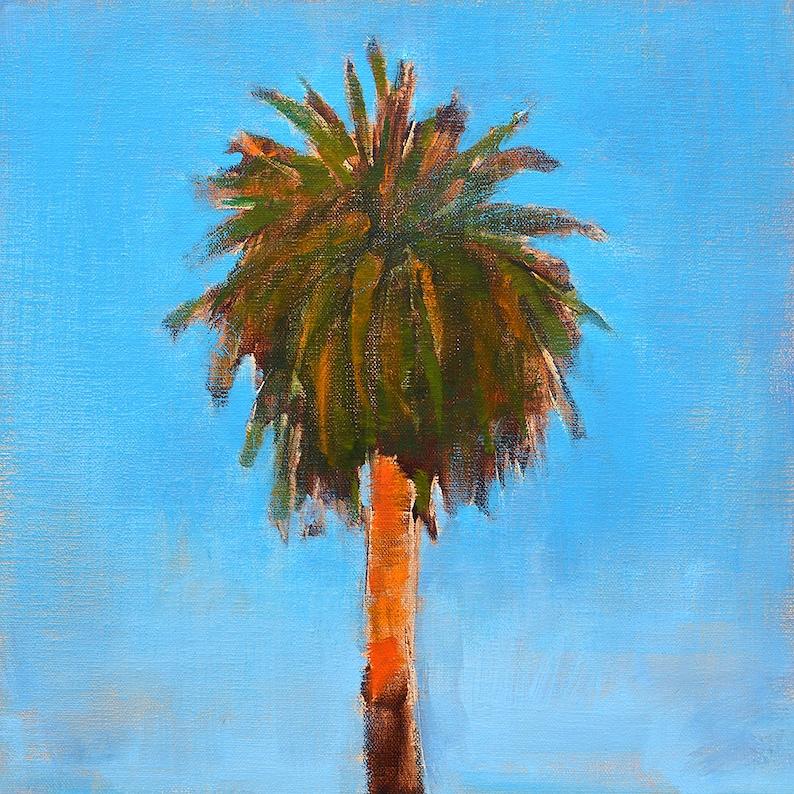 San Diego Landscape Painting Palm Tree image 1