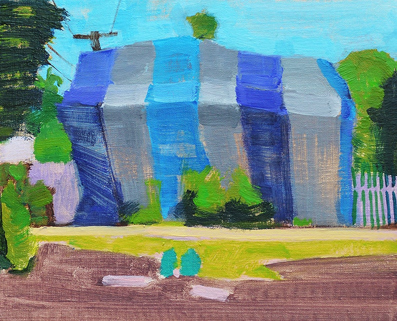 Termite Tent in South Park San Diego Landscape Painting image 0