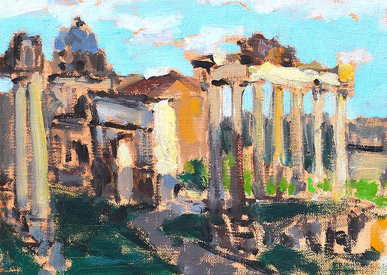 Foro Romano Rome Italy Painting Original image 0