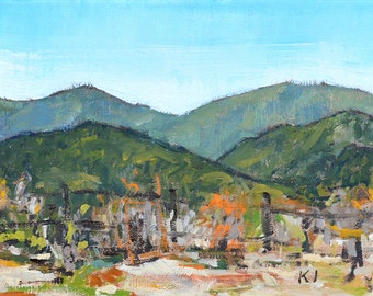Fence in Temecula , California landscape painting