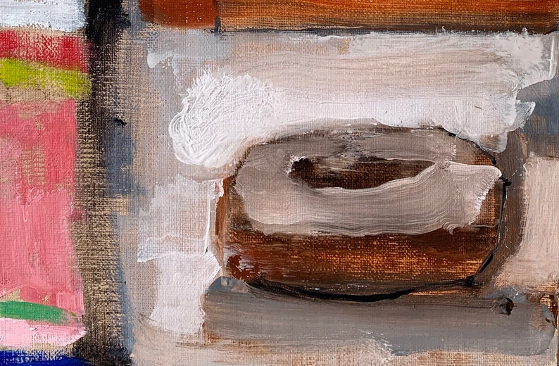 Donut Painting Original Still Life Oil image 0