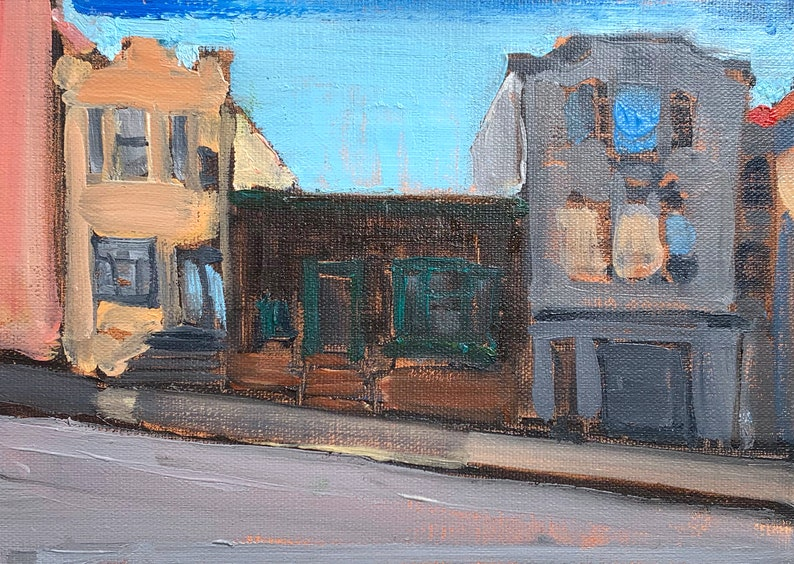 Victorian Houses San Francisco Painting image 0
