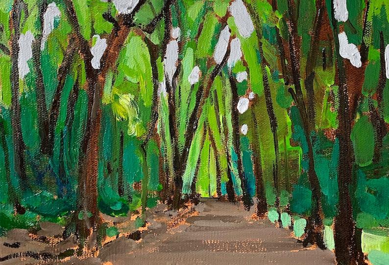 Hampstead Heath Woods Forest London England Oil Painting image 0