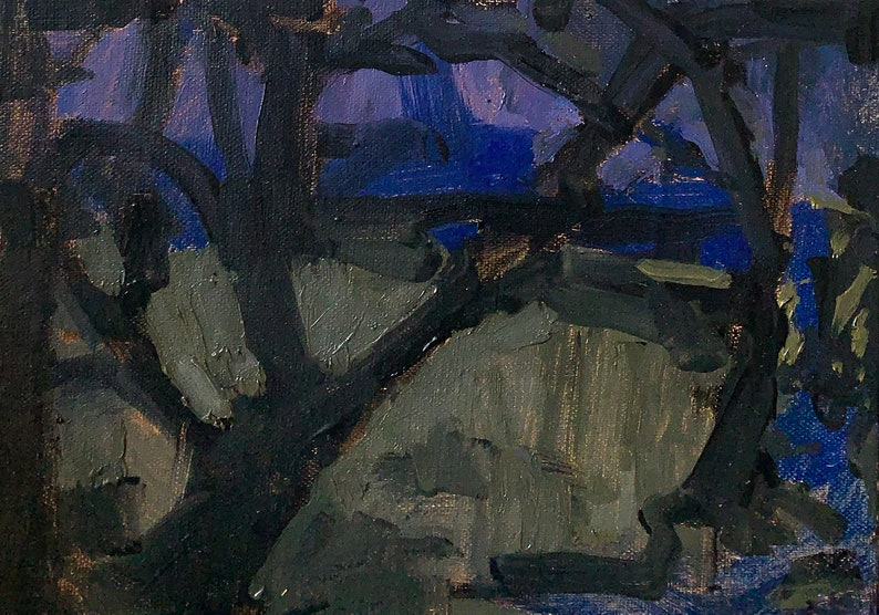 Night Oaks Paso Robles California landscape painting image 0