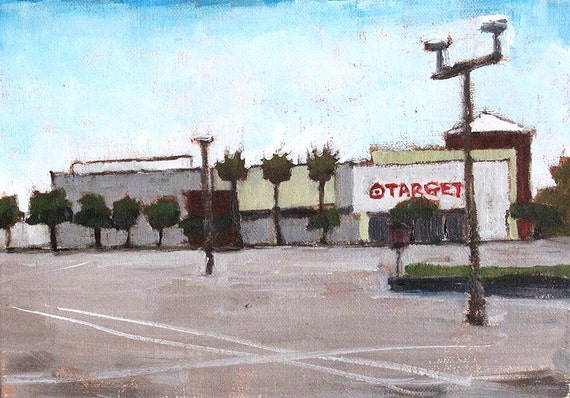 mission valley target store original oil painting etsy