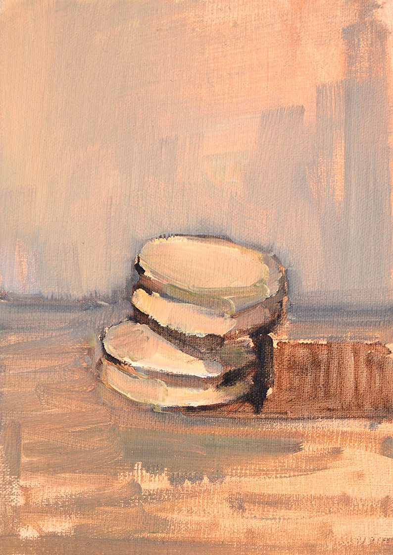 French Macaron Still Life Painting image 0