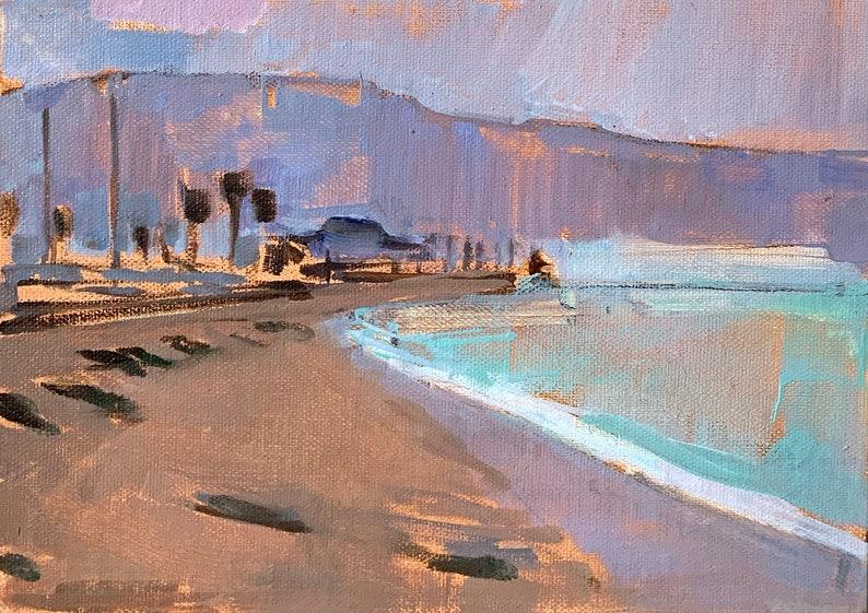 Santa Barbara Painting California Landscape West Beach image 0