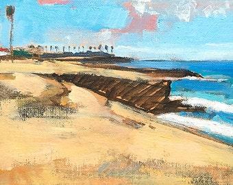 Sunset Cliffs, San Diego Landscape Painting