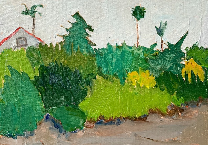 Christmas Tree Graveyard  San Diego Landscape Painting on image 0