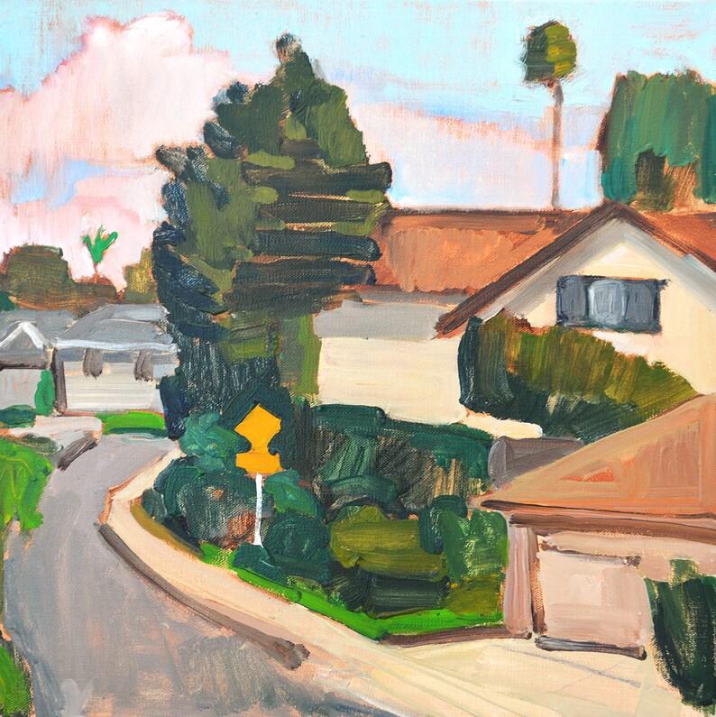 San Diego Landscape Painting Suburban Houses Clairemont image 0
